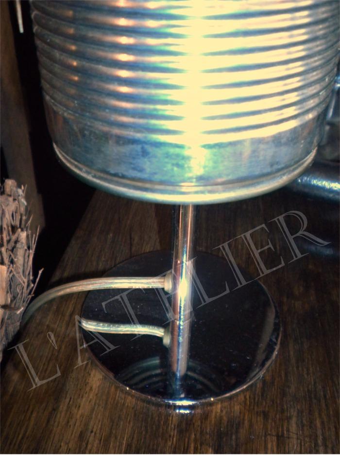 Lampe bo te de conserve boutique l - Lampe avec boite de conserve ...