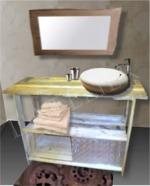 Meuble sous vasque en scrapwood bois de palette - Boutique l-atelier ...