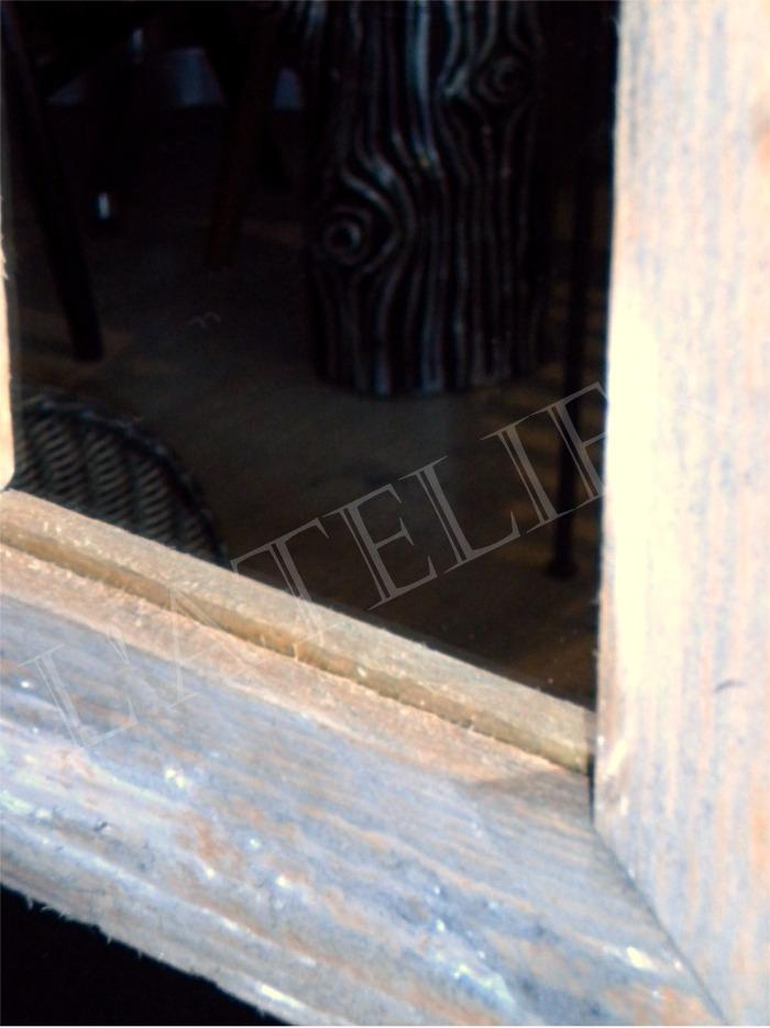 petit miroir carr cadre bois palette boutique l. Black Bedroom Furniture Sets. Home Design Ideas